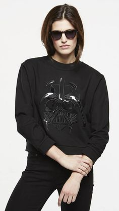 Combines humour, pop culture, rock references and contemporary cool...I love this sweater!