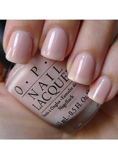 I love this simple manicure! Definitely going with a natural manicure with a light pink or nude color, no ugly french or design, same on my toes too!!   10 Wedding Manicures and Which Nail Polishes To Use | Beauty High OPI don't burst my bubble