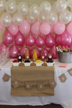 "Photo 1 of 15: burlap, lace and pearls / Baby Shower/Sip & See ""Kelis baby girl shower"" 