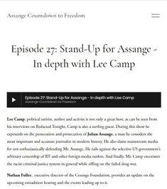 Ep 27: 2020 Jun 14: Lee Camp