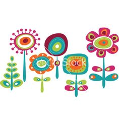 Childish floral graphics vector on VectorStock®