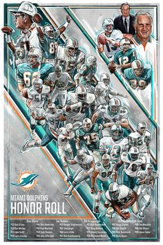 Miami Dolphins: Honor Roll Lithograph & Program Cover on Behance