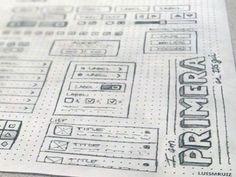 Inspiring Wireframe Sketches - Primera – An IOS GUI by Luis M Ruiz