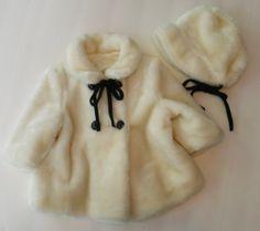Little Fur Coat .  Girl's Vintage Coat and Hat . by SeamsOriginal, $38.00