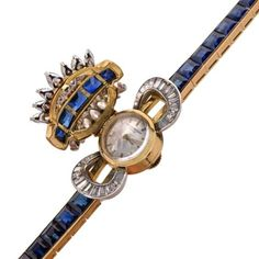 A rare and elegant ladies' wristwatch set with sapphires and diamonds by… http://www.thesterlingsilver.com/product/fossil-womens-wrist-watch-es3284/