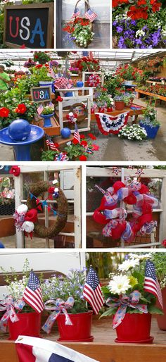Great Patriotic outdoor decorating ideas for Memorial Day or of July holidays! Patriotic Party, Patriotic Crafts, July Crafts, Holiday Crafts, Holiday Fun, Holiday Ideas, 4th Of July Celebration, 4th Of July Party, Fourth Of July