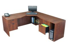 Regency Legacy Executive Desk with Right Angled Corner & Reviews   Wayfair