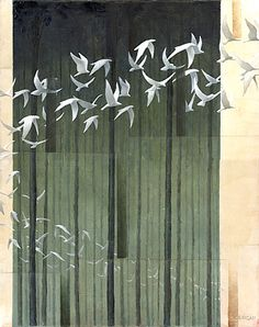 "Galleria scorrevole.                                            Sergio Cerchi, italian painter (Firenze), ""Flight"", oil on canvas."