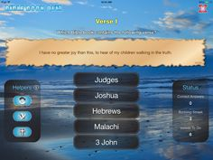 """""""I have no greater joy than this, to hear of my children walking in the truth."""" is a verse from which Bible book? See answer on BibleGateway: https://www.biblegateway.com/passage/?search=3+John+1%3A4&version=NASB (Screenshot from *FREE* app: https://itunes.apple.com/app/id775306923)"""