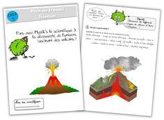 Journal de bord d'une instit' débutante - Mon plan de travail en sciences sur les volcans !