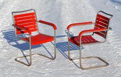 Bigla-Gartenmöbel mit Armlehnen, um 1930 Outdoor Chairs, Outdoor Furniture, Outdoor Decor, Vintage, Home Decor, Style, Gardens, Armchairs, Switzerland