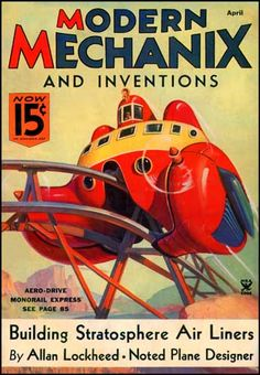 Modern Mechanix & Inventions - Artwork by Norman Saunders.