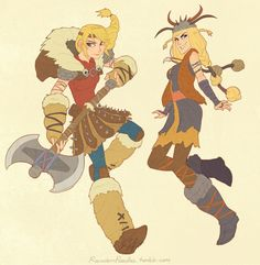 Astrid and Ruffnut