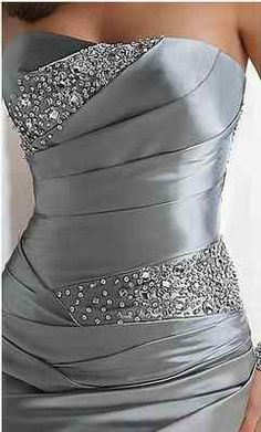 Silver evening dress, live the beadwork color and fit, so flattering