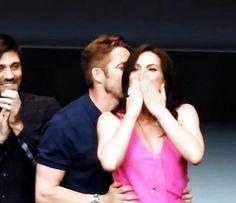 Awesome Lana and Sean Sean kissing the back  of Lana's head Lana blowing kisses…