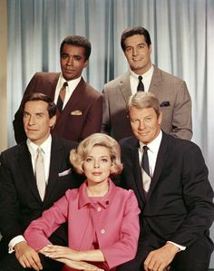 Impossible cast members clockwise from top left Greg Morris as Barney Collier Peter Lupus as Willy Armitage Peter Graves as James Phelps Barbara Bain...