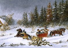 A Winter Incident,c.1860 | Cornelius Krieghoff | Art Gallery of Ontario Toronto Canada
