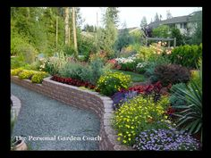 sloping garden design plans - Google Search