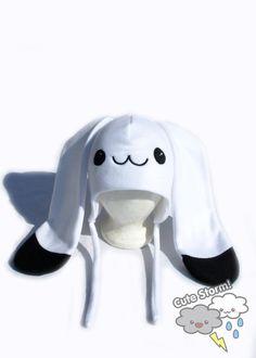 Cute winter snowshoe hare hat by CuteStorm, $23.00