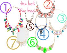 The look for less: statement necklaces