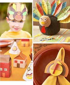 If Halloween is early, Thanksgiving is SUPER early, but these are some easy and fun ideas that even the kids can have fun joining in on making! It's always good to plan ahead too!