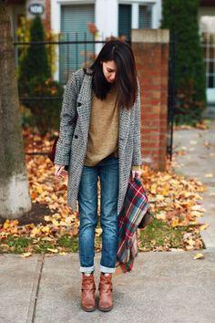 casual fall wear. great coat.