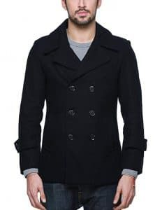Match Mens Wool Classic Pea Coat Winter Coat Fashionable cut, regular fit, fully lined Single/double breast button front available High quality fabric, perfect for chilly winter days DRY CLEAN ONLY Please refer to the detailed size chart on the left Best Mens Leather Jackets, Men's Leather Jacket, Man's Overcoat, Mens Wool Coats, Mens Winter Coat, Blazers For Men, Pea Coat, Mens Fashion, Classic