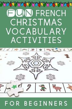Sample French Christmas Letter. French Christmas Vocabulary Resources  a FREEBIE Here are some fun resources to get your students speaking reading and writing their own creative Worksheets Activities songs
