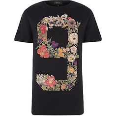 Black No.9 floral print t-shirt - t-shirts / tanks - sale - men