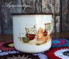 Antigua Jarra Enlosada Retro Vintage.