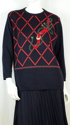 Christmas sweater Vintage Holiday sweater Navy blue red plaid wool sweater Christmas clothes Women Holiday top tunic sweater Sweater party Holiday Sweaters, Holiday Tops, Ugly Christmas Sweater, Christmas Clothes, Christmas Shopping, Vintage Holiday, Clothes Women, Tunic Sweater, Red Plaid