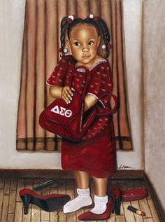 """""""Just Like Mom Delta"""" - By: Fred Mathews -- It's A Black Thang.com - Delta Sigma Theta Sorority Products and Gifts - Black Greek Products"""