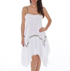 Contrast Trim Dress........I think it would look cute with a pair of worn out cowboy boots!