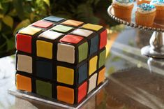 Rubics Cube groom cake for this Utah wedding groom