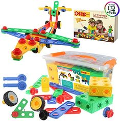 I had a metal one of these when I was a child, but this plastic one is definitely a safer choice for little toddlers. Two year olds might not quite understand how to build an airplane yet, but they can start learning how to put two pieces together and get some fine motor skills practice in!