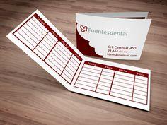 Diseño de tarjetas de visita para Fuentes Dental