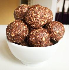 RAW energy balls Raw Energy, Energy Balls, Vegan Recipes, Good Food, Healthy Eating, Vegetarian, Cooking, Breakfast, Vegane Rezepte