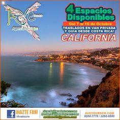 CALIFORNIA - Del 7 al 16 de Octubre Transporte privado y guía desde Costa Rica! #AgenciaDeViajesCostaRica - http://www.avetourscr.com/