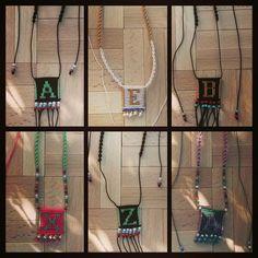 Macrame necklace monogram