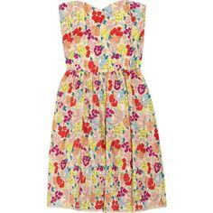 Thread Social Strapless Floral-Print Dress