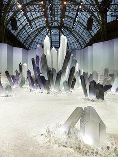 Chanel fashion show set. So cool!