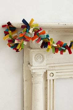 November 9th: feltt garland. Great for all those leftover scraps of felt.