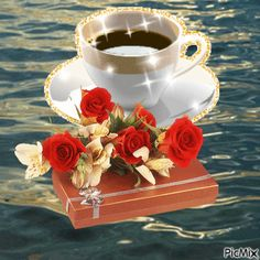 Good Morning I love you Good Morning Coffee, Good Morning Good Night, Good Morning Images, Good Morning Quotes, Beautiful Gif, Beautiful Roses, Happy Weekend Images, Flowers Gif, Coffee Images