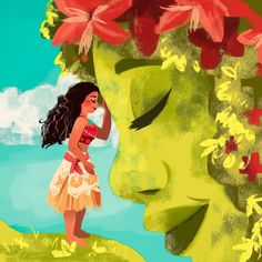 Moana Poster Collection: Posters For The Adventure Lovers! Images Disney, Disney Pictures, Disney Princess Art, Disney Fan Art, Mother Earth Drawing, Moana Poster, Moana Drawing, Free Poster Printables, Disney Paintings