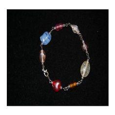 $15.00 Handmade :: Jewelry :: Bracelets :: Multi Colored Glass Beads Style 3 -