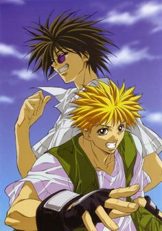 Was going through this board and I realized I had neglected the GetBackers.  Ban & Ginji have one of the ultimate bromances in anime!  Can't forget them!