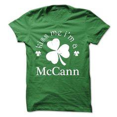Kiss Me Im A McCann! NEW - #gift for guys #cute gift. SAVE  => https://www.sunfrog.com/Names/Kiss-Me-Im-A-McCann-NEW.html?60505