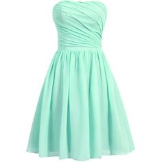 Dresstells Women's Short Strapless Bridesmaid Dress Homecoming Party... (120 CAD) ❤ liked on Polyvore featuring dresses, lullabies, strapless cocktail dress, short dresses, strapless homecoming dresses, bridesmaid dresses and green bridesmaid dresses