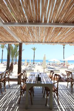 Yesterday a great new beach club officially opened its doors, called Beachouse Ibiza. From the same owners as the other successful beachclub called El. Ibiza Beach Club, Beach Cafe, Playa Den Bossa, Outdoor Restaurant, Club Design, Beach Shack, Outdoor Landscaping, Mykonos, Restaurant Design