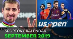 Športový kalendár – SEPTEMBER 2019: US Open, MS v cyklistike a skupiny LM! Motosport, Us Open, Motogp, Quebec, Formula 1, Ms, September, Baseball Cards, Sports